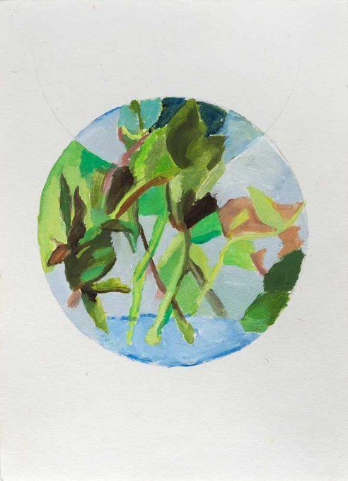 9_Hojas-y-tallos-en-agua_-Oleo-s-papel_2015